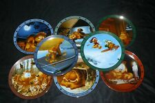 Complete Set of 8 Danbury Mint Garfield Collector Plates Dear Diary Series