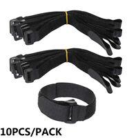 Accessories Reusable Fastening Bike Tie Nylon Hook & Loop Strap Cable Ties