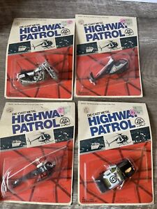 1978 Vintage ZEE Toys HighwayPatrol Police Rescue Helicopter Motorcycle Diecast