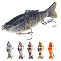 10cm 7-segment Multi Jointed Bass Muskie Pike Striper Fishing Bait Swimbait Lure
