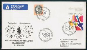 Mayfairstamps NORWAY FDC 1994 COVER WINTER OLYMPICS LILLEHAMMER wwk91441