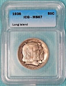 1936 MS-67  Long Island Only 81,826 Minted Classic Commemorative Silver Half