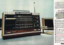 PUBLICITE ADVERTISING 035 1973 PHILIPS radio-enregistreur stéréo (2pages) 150315