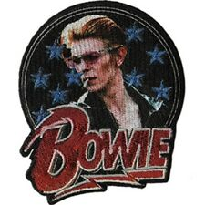 David Bowie Stars Glitter Embroidered Patch / Iron-On Applique
