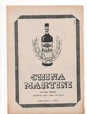 Pubblicità vintage CHINA MARTINI LIQUORE WINE ITALY old advert werbung publicitè