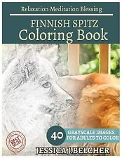Finnish Spitz Coloring Book for Adults Relaxation Meditation Blessing :.