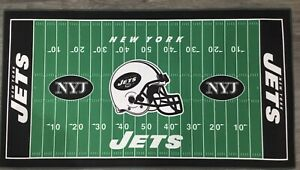 """New York Jets Premium Welcome Mat Rug 28"""" X 52"""" WinCraft Licensed Football"""