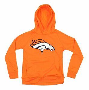 NFL Youth Denver Broncos Fleece Performance Hoodie, Orange