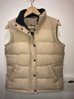 Boden feather & down padded beige zip up body warmer gilet size 10