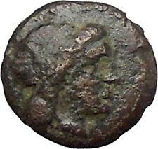 MILETOS in IONIA 350BC Ancient Greek Coin Apollo Asclepius father LION  i49581