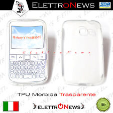 Custodia Cover Tpu trasparente Morbida Samsung Galaxy YPRO/B5510