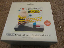 Hallmark Not Now I'M Dancing Peanuts Charlie Brown Figurine With Sound