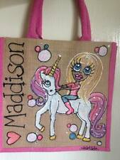 Personalised mini  pink bag lunch bag Unicorn fairy school bag princess
