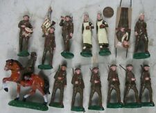 "Lot of Vintage 1920's Composition 3"" Tall Trico Japan WWI Army Men Horse"
