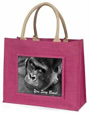 Gorilla 'You Sexy Beast' Large Pink Shopping Bag Christmas Present Ide, AM-12BLP