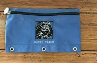 Vintage Star Wars Darth Vader Figure Zip Cloth Pencil Case Collectible Blue
