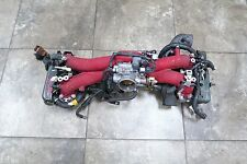 JDM Subaru WRX STi EJ207 V7 V8 2.0L Intake Manifold Pink Injectors Throttle
