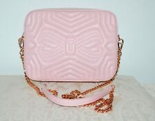 NWT $195 TED BAKER Quilted Leather Camera Chain Bag Crossbody Light Pink