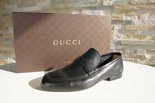 GUCCI Gr 40 6,5 Halbschuhe Slipper Schuhe Nappa 368468 schwarz NEU ehem UVP 390€