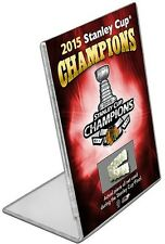 """Chicago Blackhawks 2015 Stanley Cup Game Used Net Desktop (Size: 4"""" x 2.75"""")"""