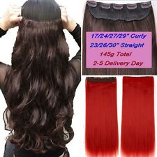 Ombre,Real Thick,24-26 Inch,3/4 Full Head Clip In Hair Extensions,Blonde Grey
