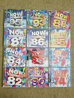 NOW Thats What I Call Music 12 CD Bundle 95,93,88,87,86,85,84,83,82,81,80,74 VGC