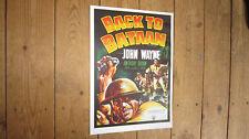 Back to Bataan John Wayne Repro Film POSTER
