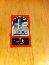 Brochure Mystic Shrine Rooms Masonic Fraternity- Vintage *