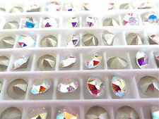 24 Clear Crystal AB Foiled Swarovski Crystal Chaton Stone 1088 29ss 6mm