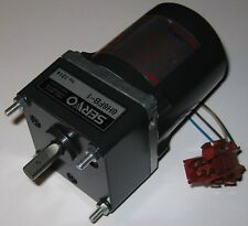 Japan Servo Induction Motor w/ Capacitor - 115 V - 20 Watts - 285 RPM - 1:6 Gear
