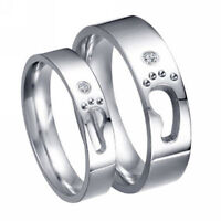 JZ029 Love/'s footsteps Titanium Steel Promise Ring Couple Lover gift Many Sizes
