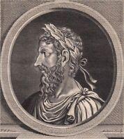 Portrait XVIIIe Otton Ier Empereur Saint Empire Roi Francie Orientale Roi Italie