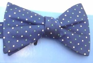 $95 Countess Mara Men`S Blue Green Polka Dot Bow Tie Classic Adjustable Bowtie