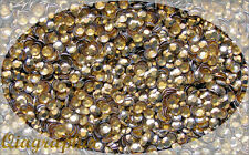 1440x10 Pcs SS12 3mm Iron On Hotfix Sparkling Faceted Rhinestuds LightGlod AS3cL
