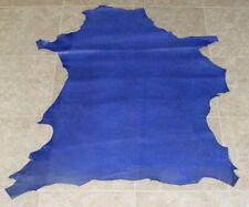 New listing (Gee8777-2) Hide of Dark Blue Embossed Lambskin Leather Hide Skin