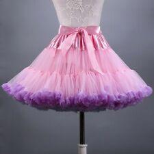 Ladies Adult Tutu Skirt Mesh Layers Rockabilly Swing Bubble Dress Dancewear New