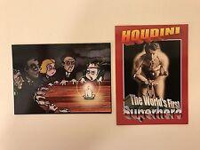PROMO CARDS: HOUDINI: WORLD'S FIRST SUPERHERO (FEP/2012): 2 DIFFERENT P1 & P2