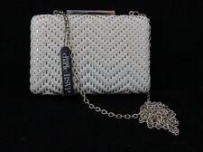 Charming Charlie RSVP white / silver clutch bag