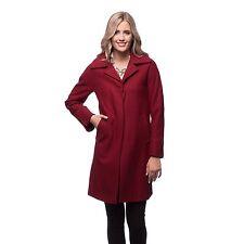 7d526ec823d Ellen Tracy RedMerlot 14-walker-notch Collar Cashmere Wool Blend Coat Jacket