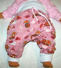 Hose Babyhose Pumphose Schlupfhose NEU 50 56 62 68 Unisex Weiß Rosa Bär Muster