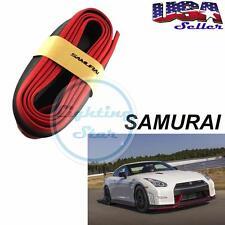 8FT Red Black Samurai Bumper Lip Universal Splitter Chin Spoiler Body Kit Trim
