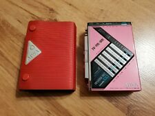 Very RARE PINK cassette walkman player Aiwa HS-J9 with case