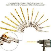 13Pcs Titanium Coated Twist Drill Bit Hex Shank 1.5-6.5mm High Speed Steel Top#