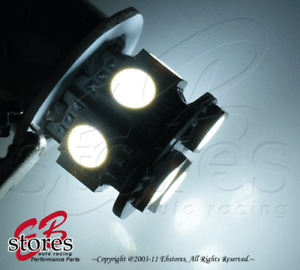 Set of 2pcs White Front Side Marker 9 SMD LED Light Bulb 2057 3496- 1157 1 Pair