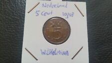 Netherlands 1948 - 5 cent Queen Wilhelmina.