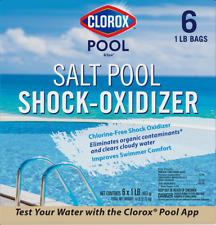 New listing Clorox Pool & Spa Salt Essence Chlorine Free Shock Oxidizer 6 pack 6 x 1lb bags
