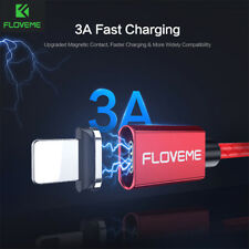 FLOVEME LED Magnetic Micro USB Fast Charging 3A Data Cable For Samsung Huawei