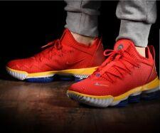 Nike LeBron 16 Low SuperBron Trainers- CK2168-600-Size UK 12/EUR 47.5/US 13