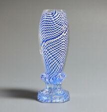 Petschaft / Siegel · Fadenglas, Kristallklar/Blau, geschliffen · ca. 1890 · RAR!