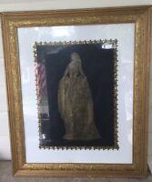 """ANNE BOLEYN Framed gold leaf rubbed portrait Approx 21 1/2"""" x 26"""" Mint"""